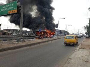 No passenger sustains injury in Lagos BRT fire incident — Spokesman