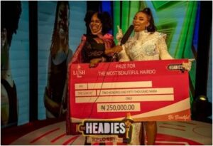 Iyabo Ojo wins best hairdo at The Headies