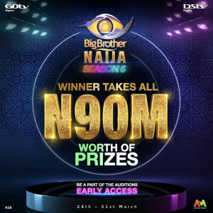 BBNaija organizers unveil N90 million prize, begin auditions for season 6