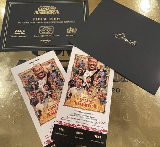 Nigerians celebrate Davido for featuring in Coming 2 America
