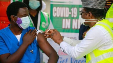 Photo of Dr Ngong Cyprian is first Nigerian to receive COVID-19 vaccine