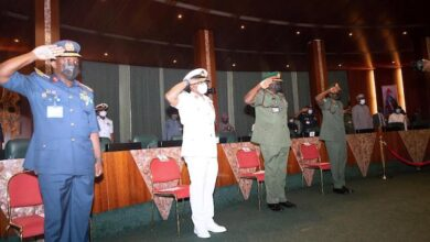 Photo of Buhari Promotes Service Chiefs, Warns They Have Short Time To Deliver [Photos]