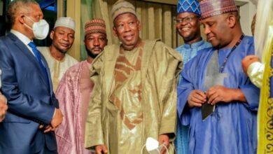 Photo of Photo: Ganduje, others reconcile Aliko Dangote and Abdussamad Isyaka-Rabi'u over sugar plant dispute