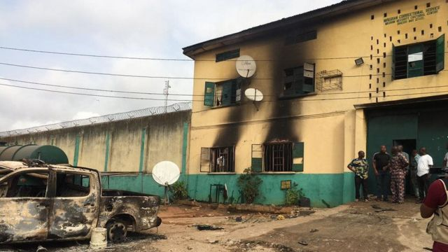 Imo prison attacks: 1,844 inmates escaped, 35 stayed, six voluntarily returned – Official