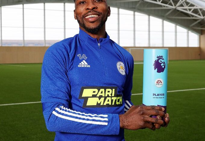 Nigeria's Iheanacho beats Harry Kane, others to EPL Player of the Month Award