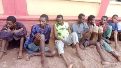 Photo of Kidnappers of OOU students, doctor, monarch paraded in Ogun