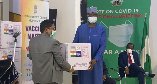 JUST IN: Nigeria receives 100,000 more AstraZeneca vaccines from India