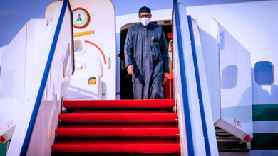 Photo of JUST IN: Buhari returns to Abuja after medical check-up in London