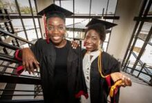 Photo of Two Chibok Girls who escaped from Boko Haram captivity in 2014 bag degrees in U.S. varsity