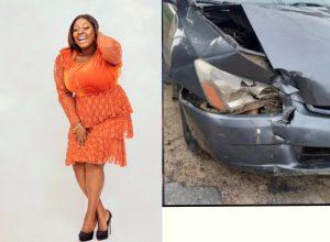 Popular OAP Lolo 1, kids survive car accident
