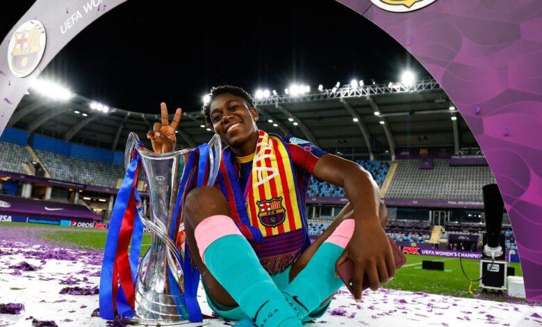 Oshoala wins UEFA Women's Champions League with FC Barcelona Ladies