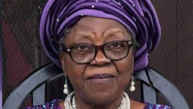 Photo of Buhari mourns female professor who composed national pledge