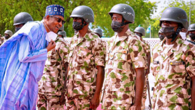 Photo of Buhari to security agents: 'Give no breathing space to terrorists, criminals'