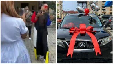 Photo of Popular entertainer Denrele Edun gets surprise Lexus SUV gift on 40th birthday