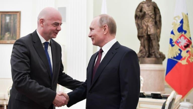 Infantino, Russia president Putin