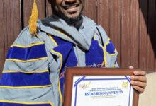 Photo of Mr P bags honorary doctorate degree from Benin varsity