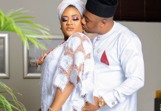 Photo of Nollywood actress Nkechi Blessing releases wedding photo on hubby's birthday
