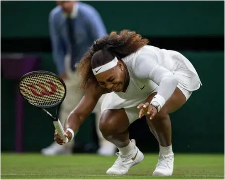 Tearful Serena forced out through injury at Wimbledon