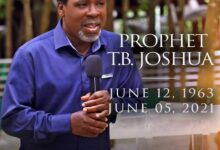 Photo of BREAKING: Synagogue Church founder, Prophet T.B. Joshua is dead