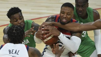 Photo of US falls to Nigeria 90-87 in pre-Olympic opener