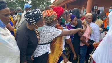 Photo of LG Poll: Electoral officers turn back voters without face masks
