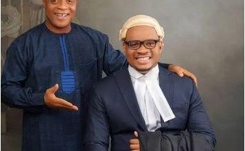 Photo of Bright Chimezie celebrates son's graduation from law school
