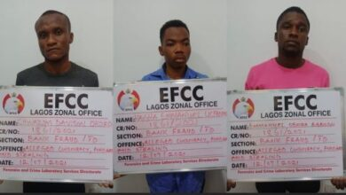 Photo of EFCC Arrests Three Bankers For Alleged N51.9m Fraud In Lagos