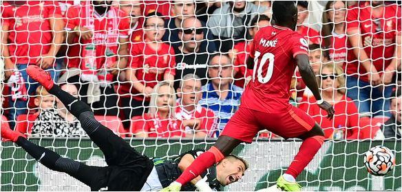 Sadio Mane scores 100th goal as Liverpool go top
