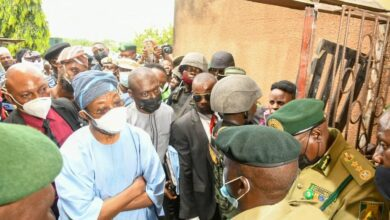 Photo of Photos: Aregbesola inspects attacked Correctional Service facility in Oyo, vows to recapture all fleeing inmates