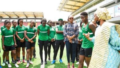 Photo of Lagos First Lady Ibijoke pays surprise visit to Super Falcons in training