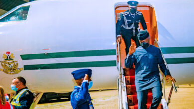 Photo of Osinbajo arrives London for UN Energy Summit ( Photo)